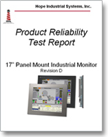 "17"" Panel Mount Monitor reliability test report"