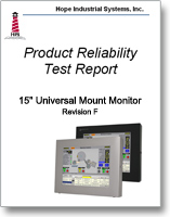 "15"" Universal Mount Monitor reliability test report"