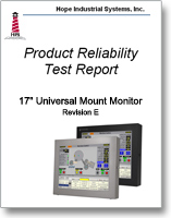 "17"" Universal Mount Monitor reliability test report"