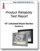 "19"" Universal Mount Monitor reliability test report"