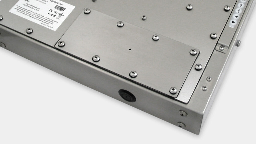 Pilot Hole Cover Plate - user drills for cable exit