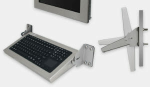 New Industrial Wall Mount Keyboards - front and side views