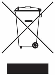 Logotipo de cumplimiento de RAEE: marca de Directiva sobre residuos de aparatos eléctricos y electrónicos
