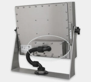"""KVM Extender mounted to rear of 19"""" Universal Mount Monitor"""
