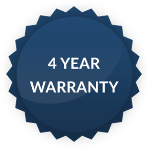 4-Year Warranty Badge for Hope Industrial Systems