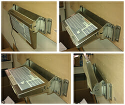 New Industrial Wall Mount Folding Keyboard