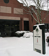 Hope Industrial Systems Building covered in snow, winter 2011