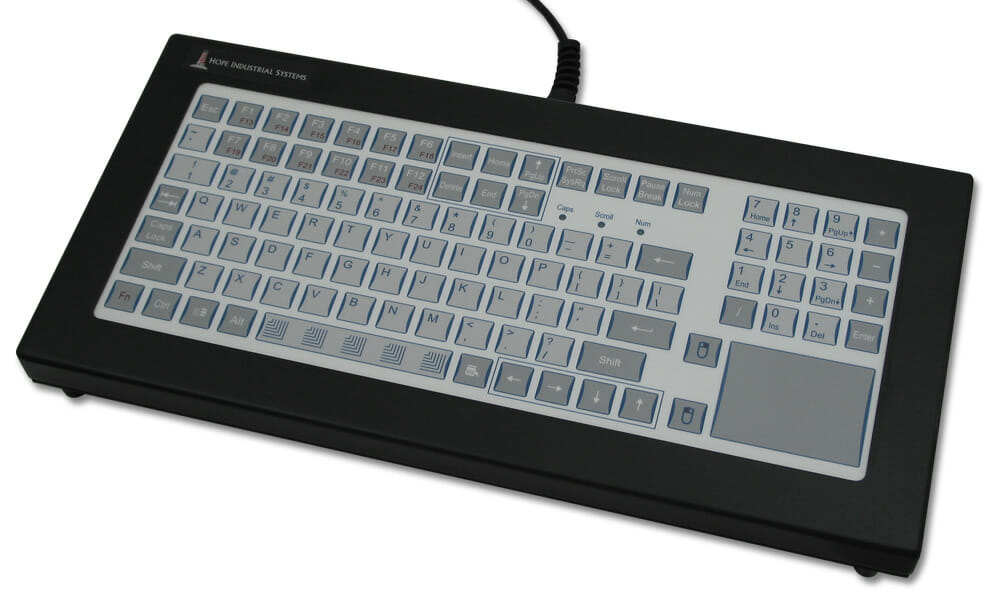 NEMA 4 Short-Travel Industrial Benchtop Keyboard with touchpad