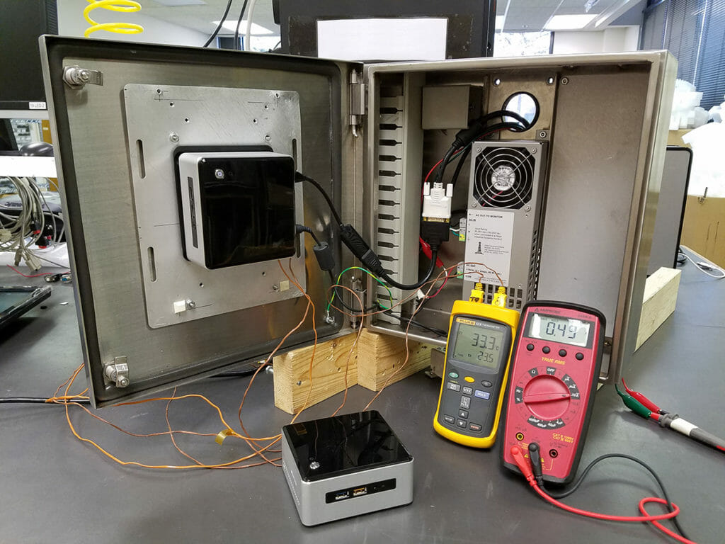 Intel NUC i5 installed in Hope Industrial Small PC/Thin Client Enclosure