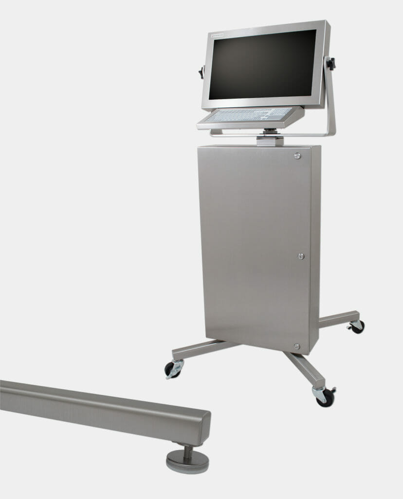 Industrial Workstation with Optional Floor Stand