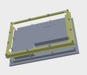"3D Drawing of 15"" Panel Mount Monitor"