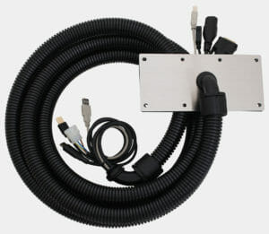 Configuration with Stainless Steel Cover Plate, 4.0 m Conduit, and 4.6 m Power, Video and USB Cables