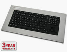 Panel Mount Industrial Keyboard sealed to IP65/IP66 standards