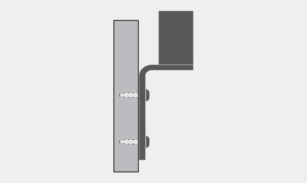 Montaje en pared inverso