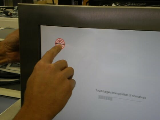 Demonstration of Touch Screen Alignment