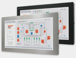 """23"""" Widescreen Universal Mount Industrial Monitors and IP65/IP66 Rugged Touch Screens, front view"""