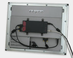 Stand-Alone KVM Extender VESA Mounted to Rear of Panel Mount Monitor