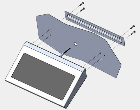 Mounting Diagram for New Fixed Wall Mount Keyboards